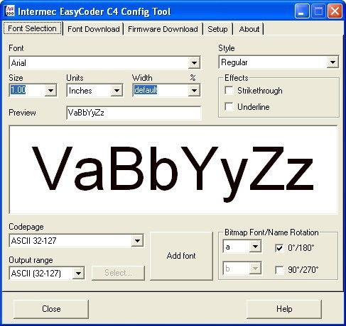 Intermec EasyCoder C4 Config Tool Download (C4Conf exe)