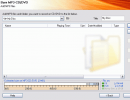 Burn MP3, CD, DVD window