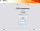 Discs copy window