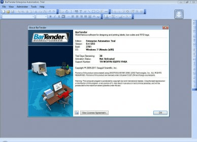 BarTender 10 1 Download (Free trial) - Bartend exe