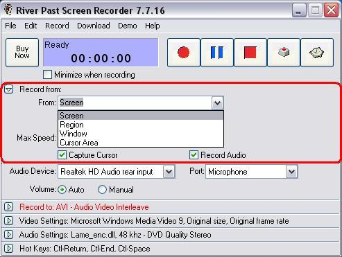 River Past Screen Recorder  Get the software safe and easy