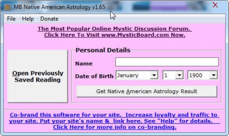 MB Free Native American Astrology - Software Informer  MB Native