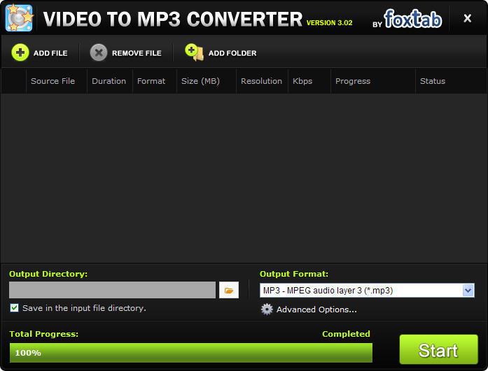 TÉLÉCHARGER FOXTAB VIDEO TO MP3 CONVERTER