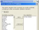 Countries IP Address Window