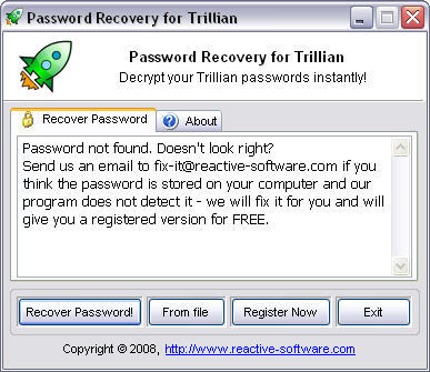 Trillian Password Recovery  Get the software safe and easy