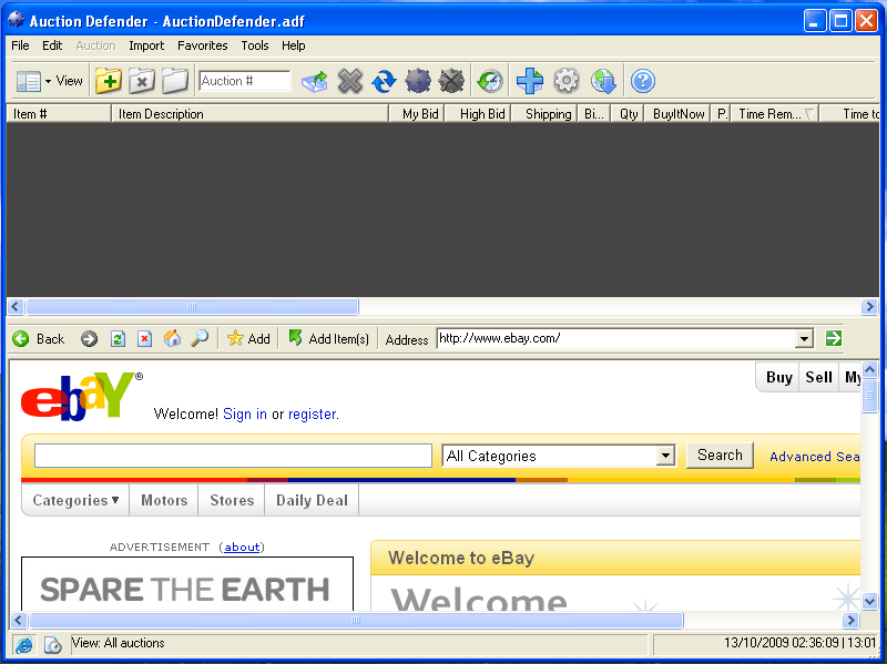 Auction Defender 1 9 Download Free Trial Auctiondefender Exe
