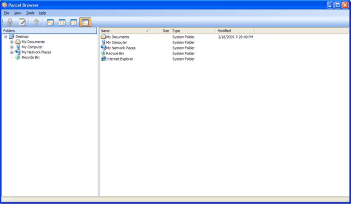 Parcel browser.