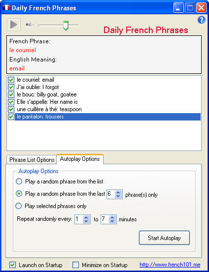 Daily French Phrases Download - Learn one french phrase per day with