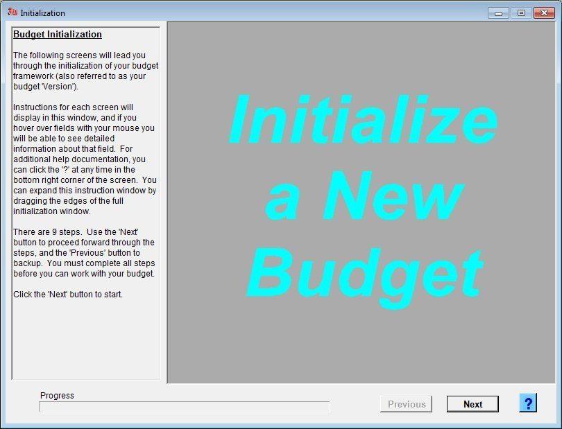 Budget Initialization