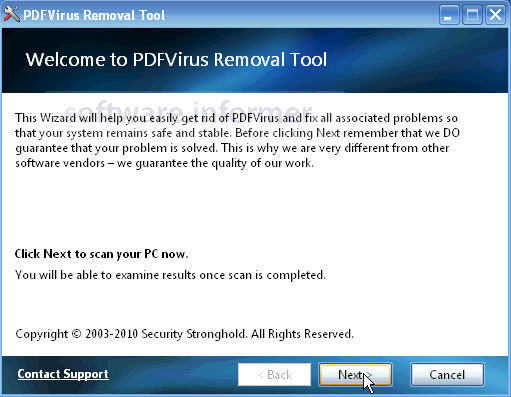 PDFVirus Removal Tool Download - PDF-Virus Removal Tool will