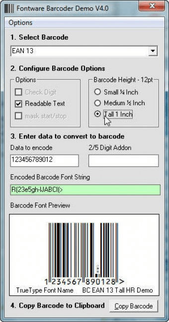 Barcode Singles EAN 13 software and downloads