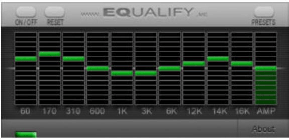 Equalify Download - Plugin for Spotify player with a 10-band music