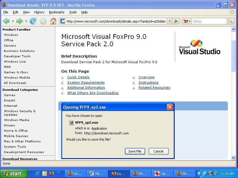 visual foxpro free download for windows 7