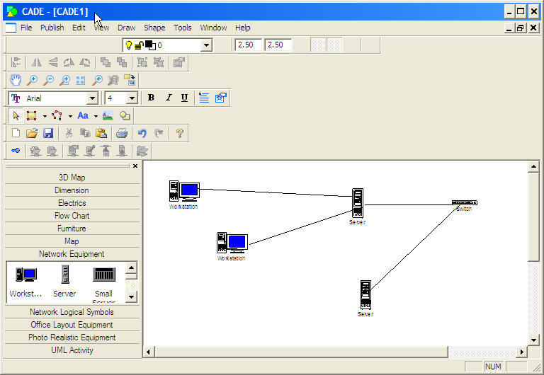 Draw network - main window