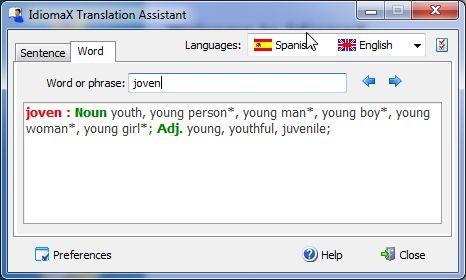 Word and phrase translator