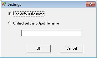 Output File Name Settings