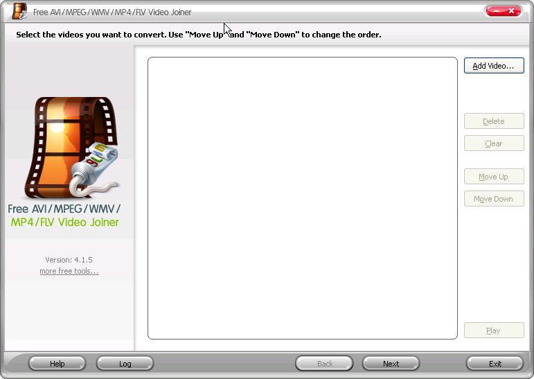 free avi mpeg wmv mp4 flv video joiner espa?ol