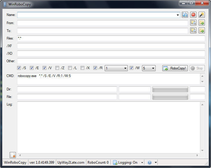 WinRoboCopy - Software Informer  WinRoboCopy is a GUI front end for