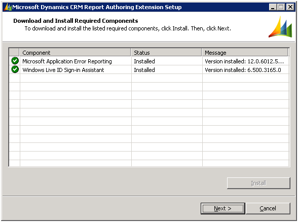 Microsoft Dynamics CRM Report Authoring Extension Download