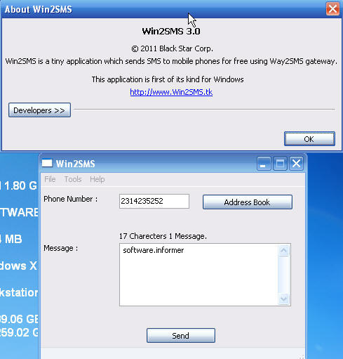 Win2SMS Download - It is designed to send free SMS from your