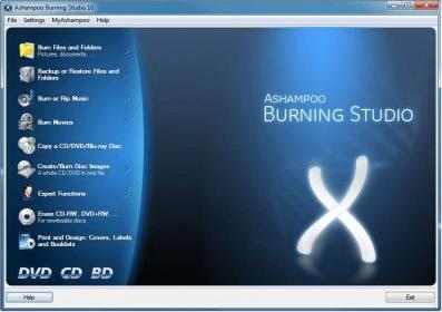 BURNING 10.0.10 ASHAMPOO TÉLÉCHARGER STUDIO