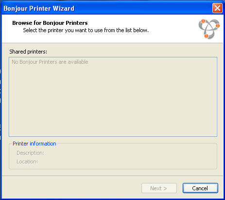Bonjour Print Services for Windows Download (PrinterWizard exe)
