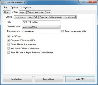 7-Zip SFX Maker Download - Free tool to transform your 7z