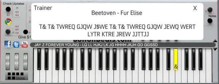 ButtonBeats Virtual Piano Software Informer: version 5 9