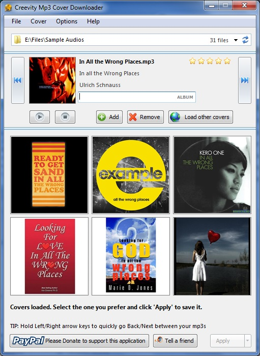 Creevity Mp3 Cover Downloader 1 0 Download Free Mp3 Cover Downloader Exe