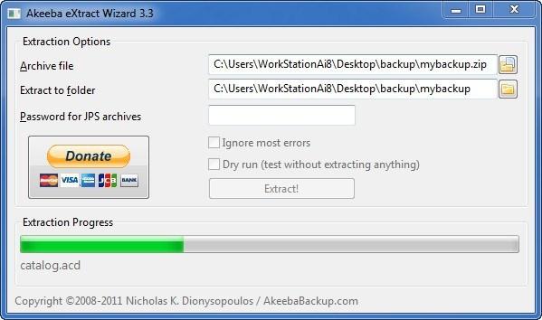 Akeeba eXtract Wizard Download (extract exe)