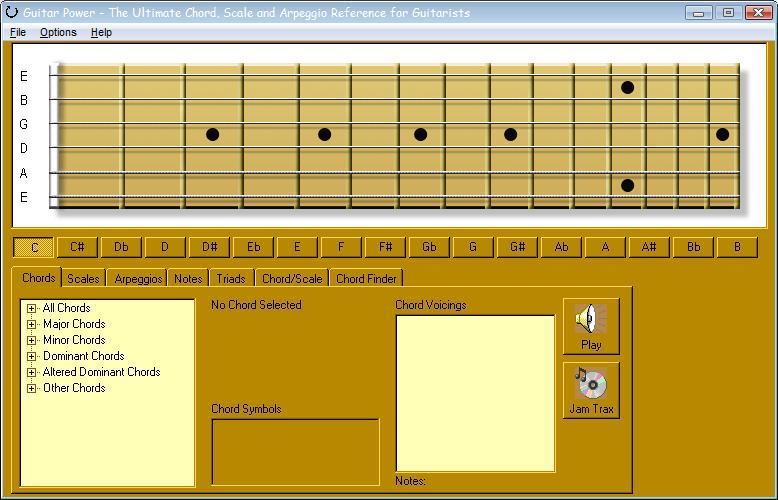 Guitar Power- Basic interface