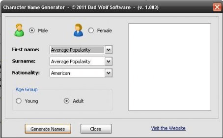 Character Name Generator - Software Informer  Find a