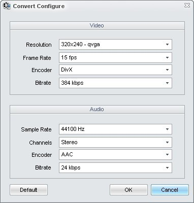 Detailed Conversion Settings