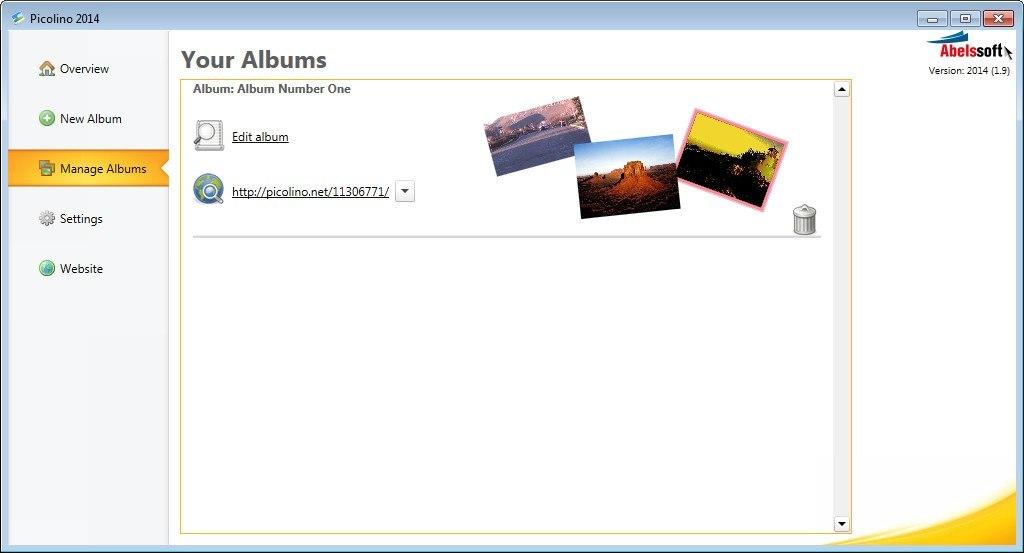 Manage Albums