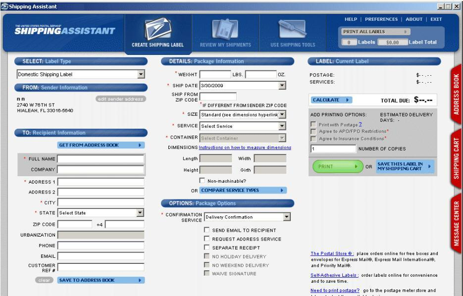 usps shipping assistant 3.8