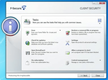 F secure Client Security manual Uninstall