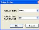 Option Window