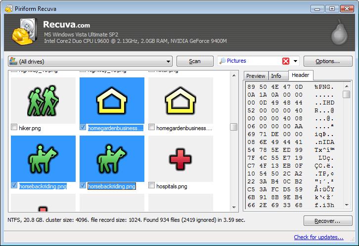 RECUVA 1.44.778 TÉLÉCHARGER PORTABLE