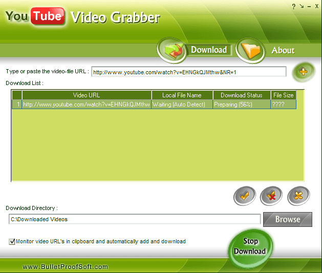 Downloading from Youtube