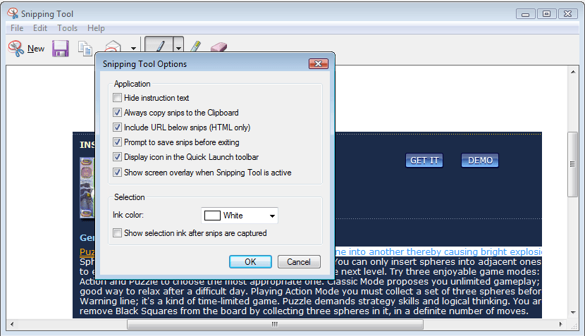 Microsoft Snipping Tool software and downloads (snippingtool  exe)