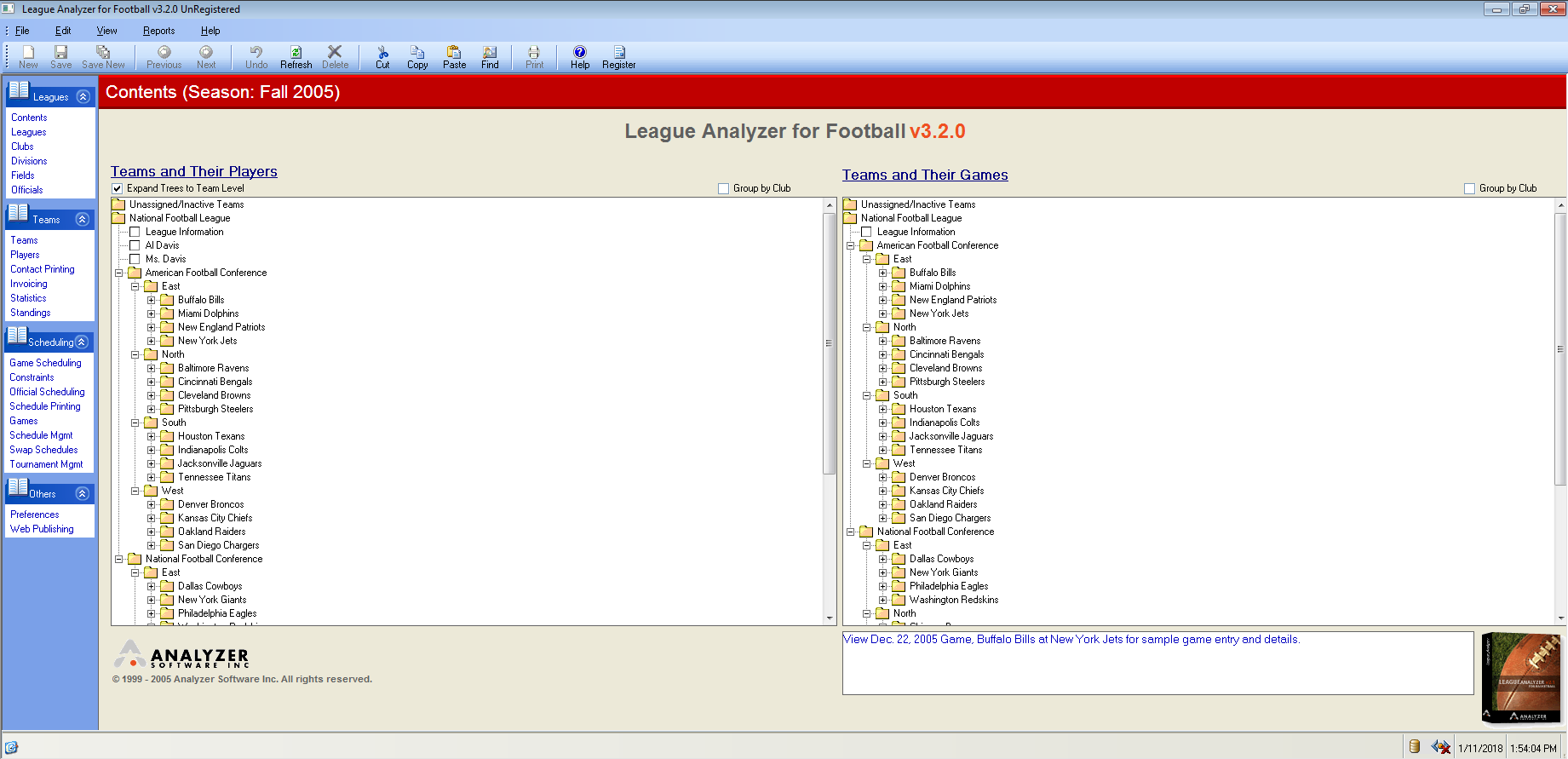 League Analyzer for Football  Get the software safe and easy