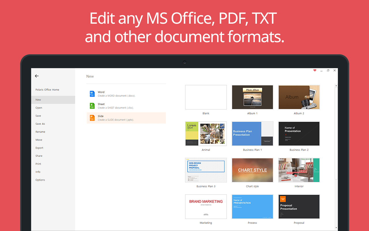 View, Edit & Share MS Office, PDF, TXT, and more