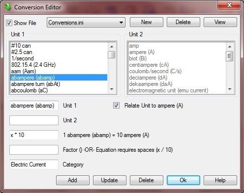 Conversion Editor