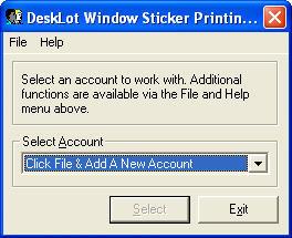 Account Window