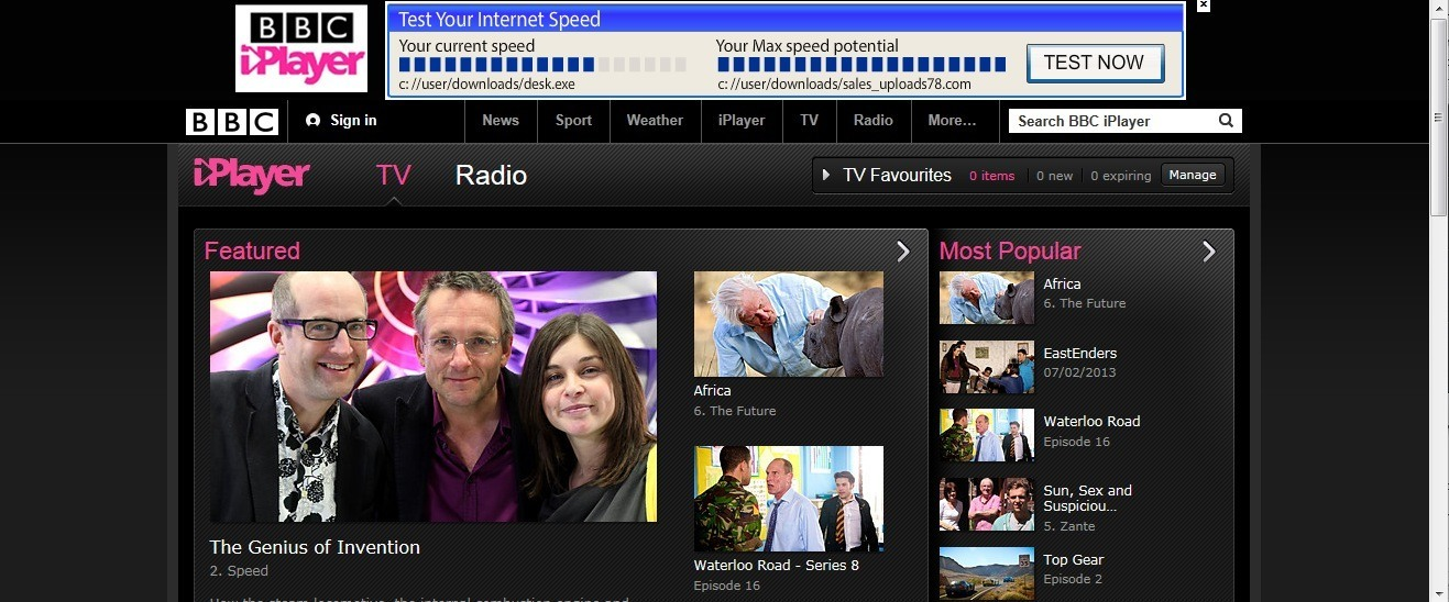 BBC iPlayer from outside the UK