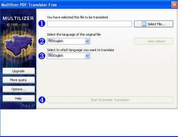 Multilizer Pdf Translator