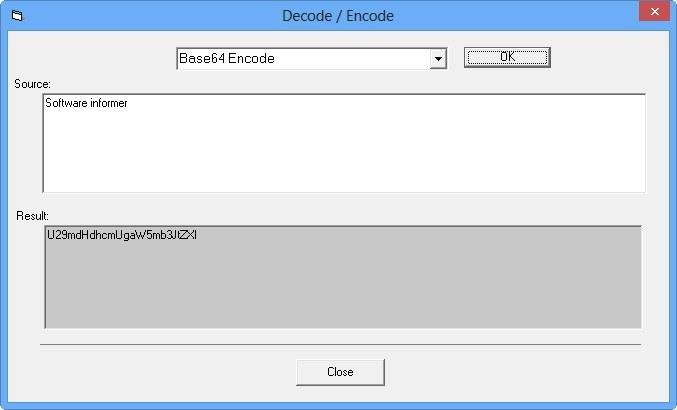 Decode / Encode Window
