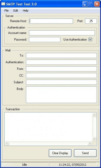 SMTP Test Tool Download - It has the ability to initiate and