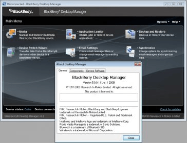 blackberry desktop manager v5 0.1 free download