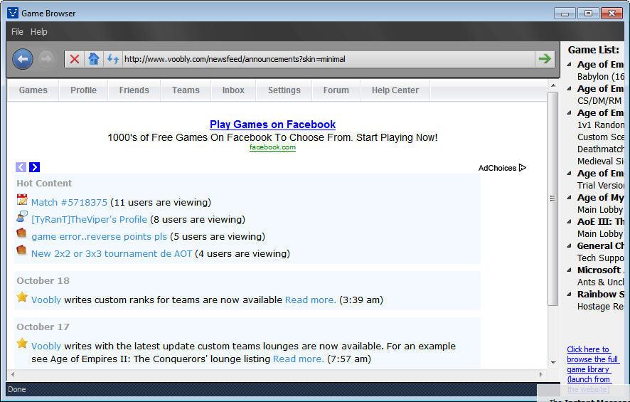 Game Explorer Window